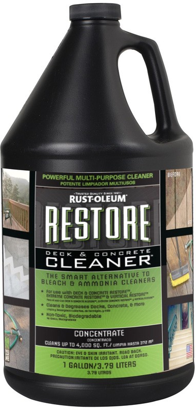 Buy the rust oleum 51752 restore deck concrete cleaner for Best degreaser for concrete