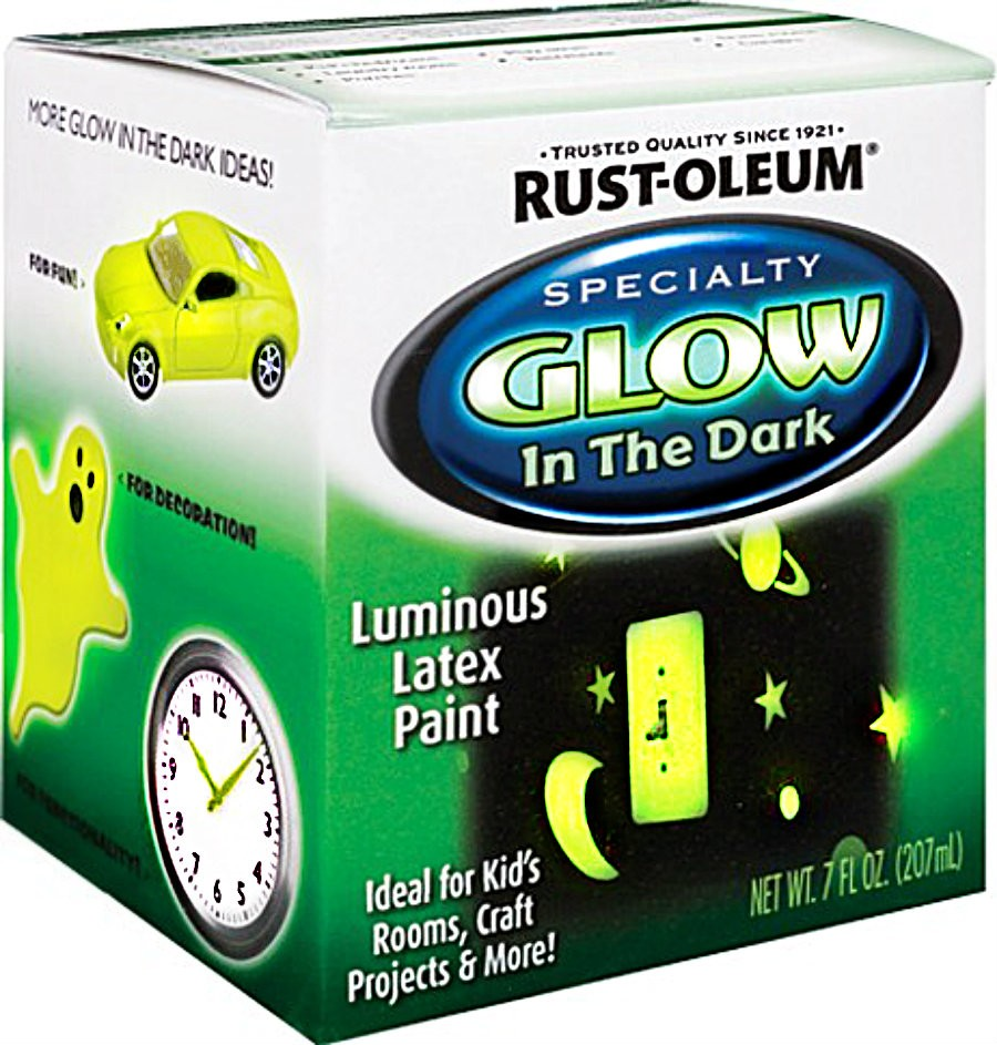 buy the rust oleum 214945 glow in the dark paint 7 ounces hardware. Black Bedroom Furniture Sets. Home Design Ideas