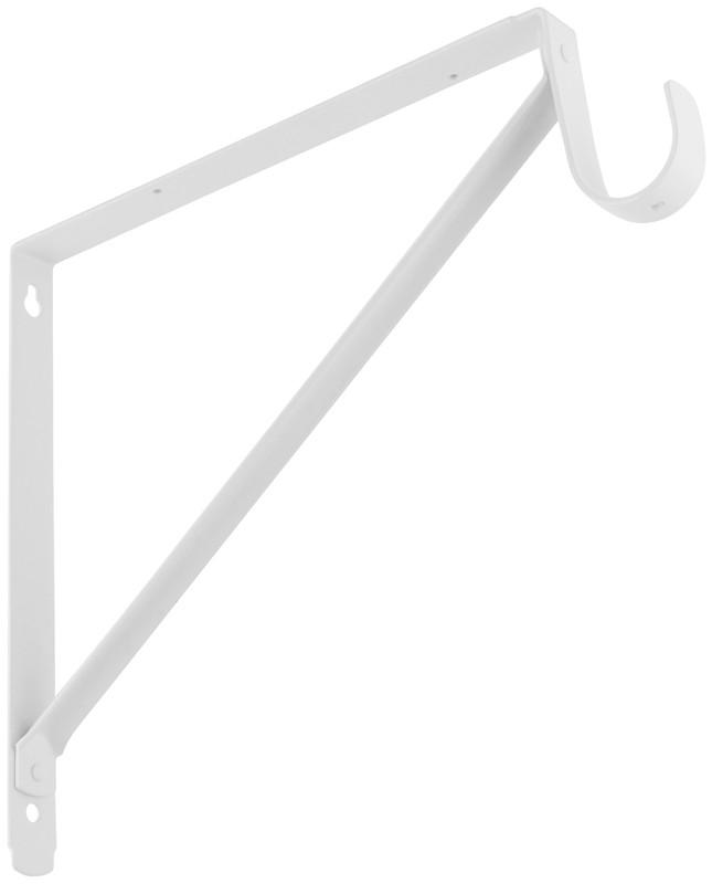 buy the national 820225 shelf rod bracket white 12 inch. Black Bedroom Furniture Sets. Home Design Ideas