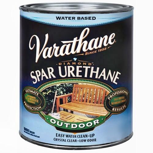Buy the rust oleum 250241 varathane exterior spar urethane diamond wood finish satin quart for Varathane water based exterior polyurethane