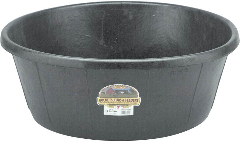 Buy The Miller Mfg Hp 15 Rubber Heavy Duty Tub 15 Gallon