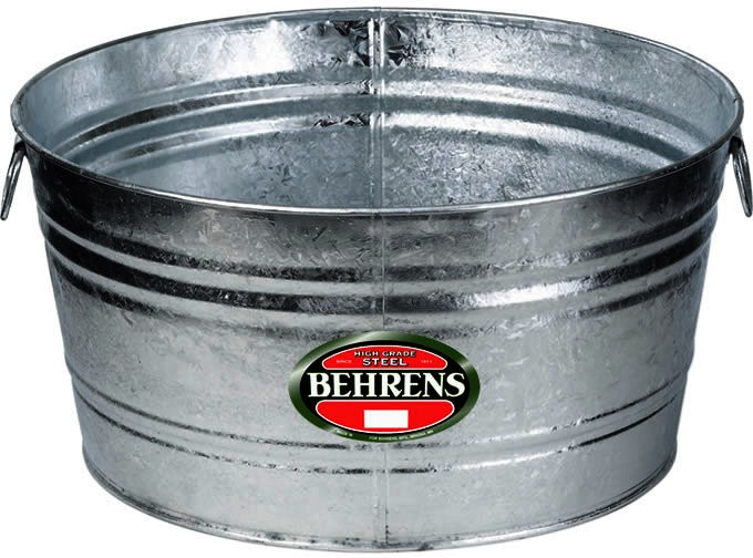 Buy The Behrens Mfg 1 Galvanized Round Tub 10 5 Gallons