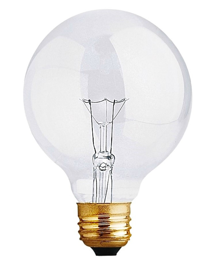 Vanity Light Bulb Wattage : Buy the Feit Elec. 40G25 Bath & Vanity Clear Globe Light Bulb, ~ 120v/40w Hardware World