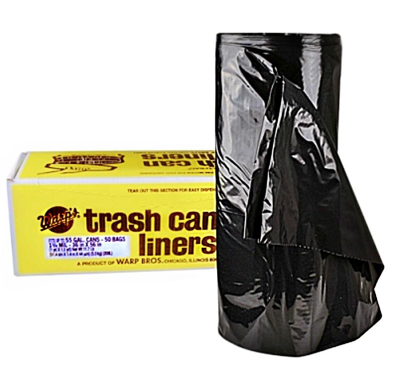 buy the warp bros fb55 50 trash bags 55 gal mil hardware world. Black Bedroom Furniture Sets. Home Design Ideas