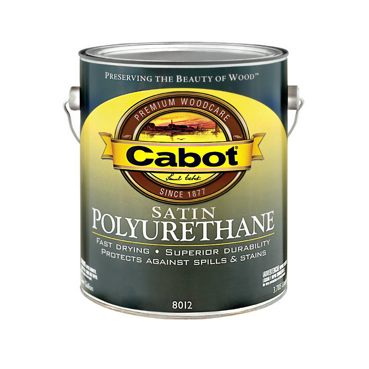 Buy the cabot 1440008012007 satin polyurethane 1 gallon hardware world for Exterior polyurethane wood finish