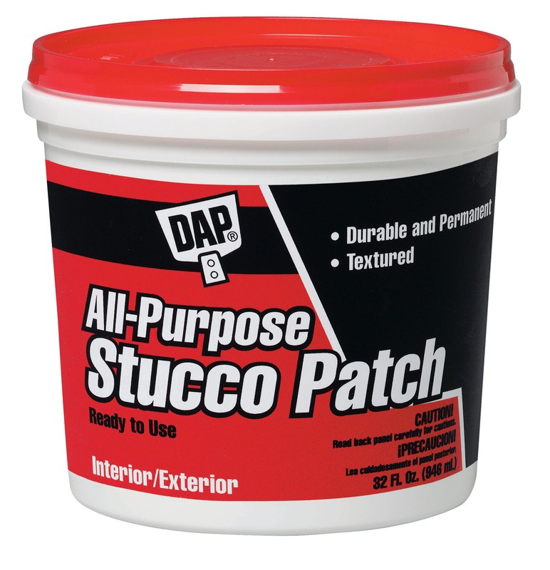 Buy the dap 10504 qt wh stucco patch hardware world for Quikrete exterior stucco patch