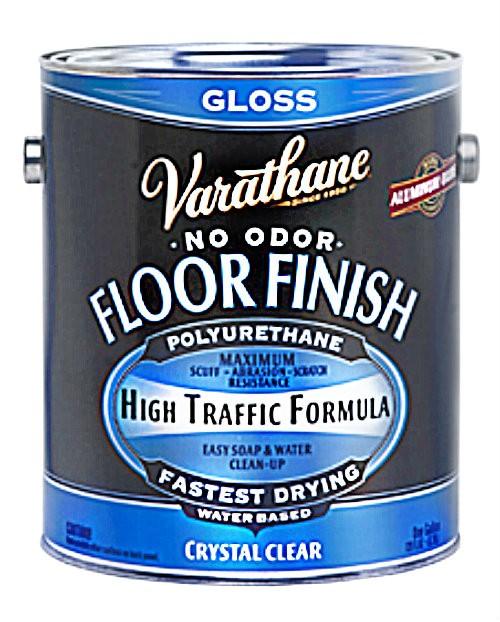 Buy the rust oleum 230031 varathane crystal clear wood floor finish gloss gallon hardware world for Varathane water based exterior polyurethane