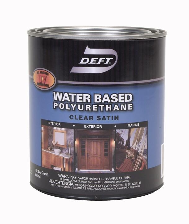 Buy The Deft Dft259 04 Polyurethane Finish Water Based Clear Satin Quart Hardware World