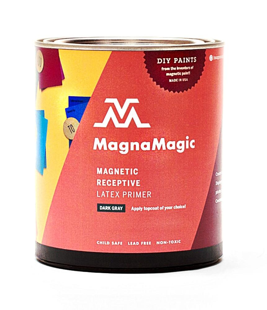 Magnamagic magnetic receptive wall paint