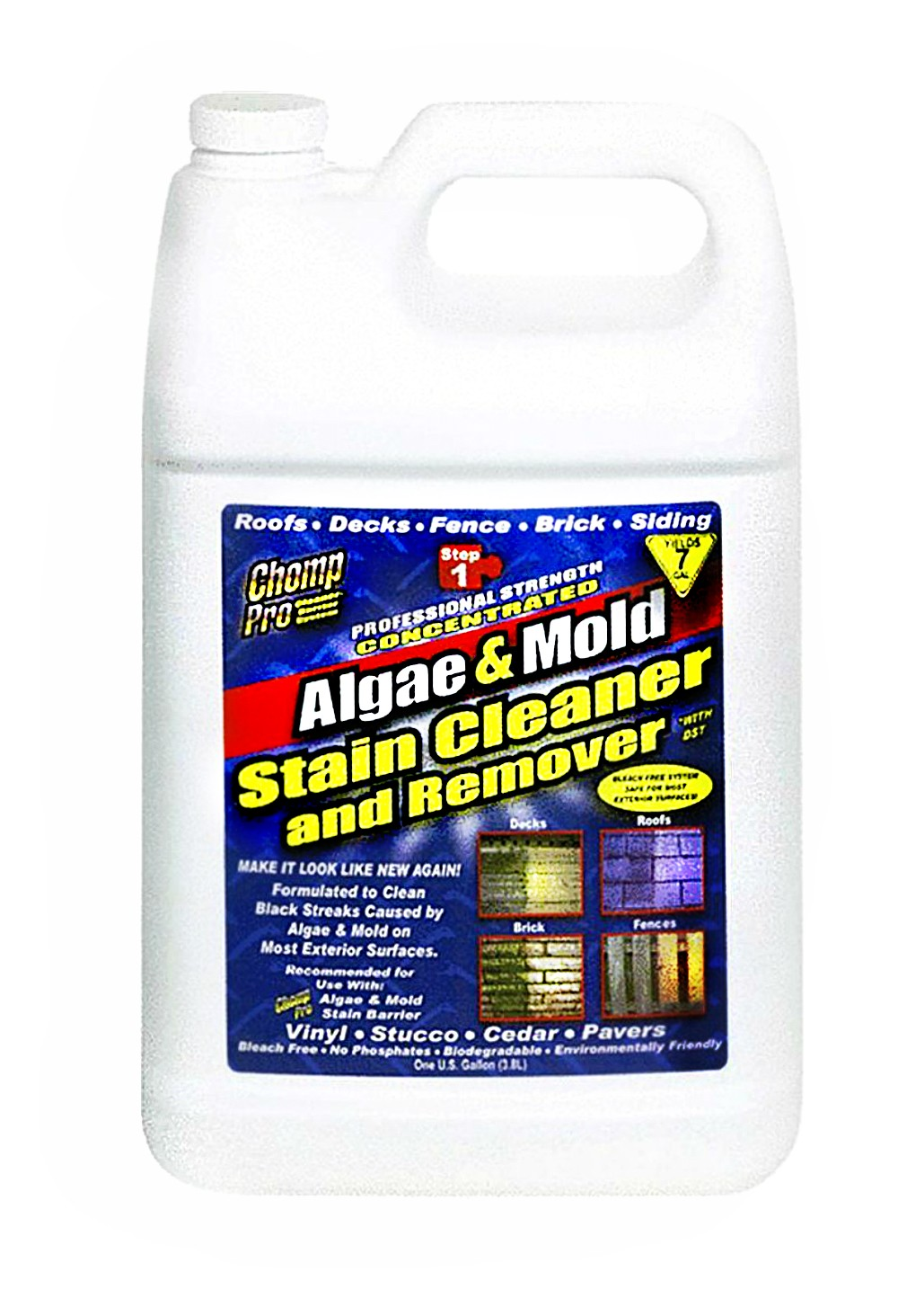 Buy The Esi Chomp 53034 Algae Mold Stain Clearner Remover Gallon Hardware World
