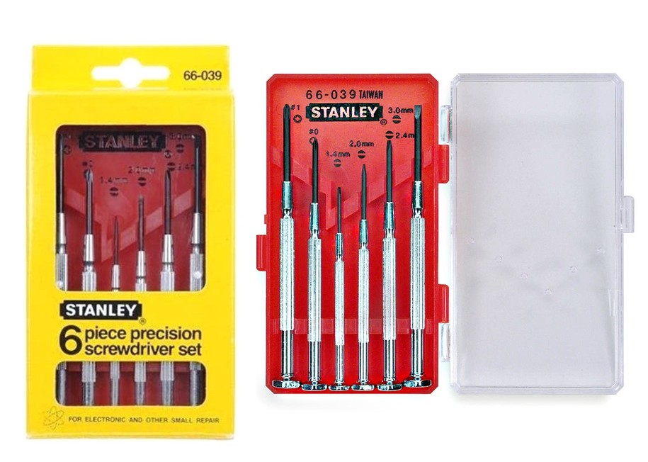 buy the stanley 66 039 precision screwdriver set hardware world. Black Bedroom Furniture Sets. Home Design Ideas