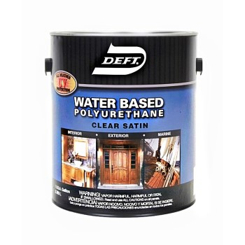 Buy the deft dft259 01 polyurethane water base clear for Exterior water based paint