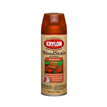 Buy The Krylon K03604000 Exterior Wood Stain Spray Redwood 12 Oz Hardware World