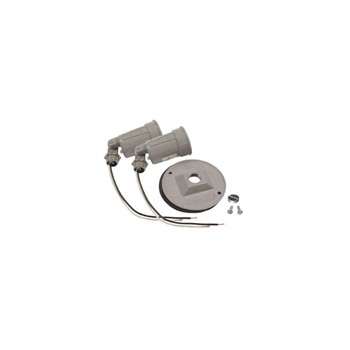 Two Light Lampholder Round Cover Kit, Gray 4 inch