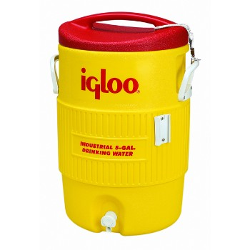 Water Cooler, Yellow/Red 5 Gallon