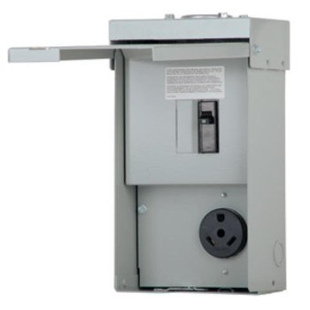 Unmetered Temporary 30 Amp Power Outlet Panel ~ 125 Volt