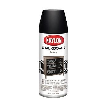 buy the krylon i00807 chalkboard paint black 12 oz. Black Bedroom Furniture Sets. Home Design Ideas