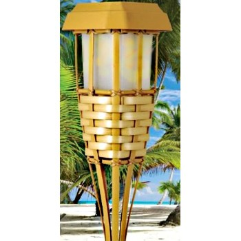 Bamboo Party Torch - Solar
