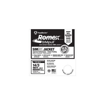 Romex Grounded NM Wire - 14/3g 100ft.