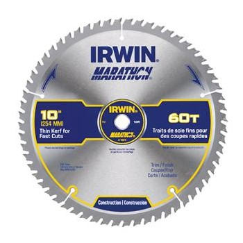 Buy The Irwin 14074 Marathon Miter Table Saw Blade 10 60t Hardware World