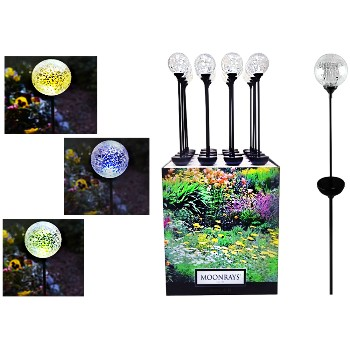 LED Color Changing Globe Stake Light