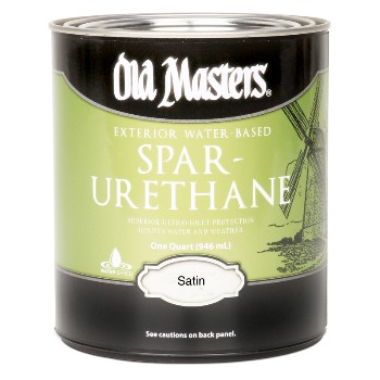 Buy the old masters 74501 spar urethane exterior satin - Varathane water based exterior polyurethane ...