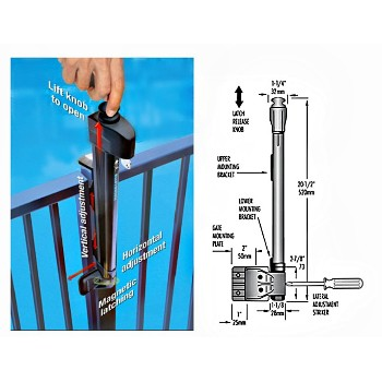 Buy The National 346551 Gate Latch Magna Latch Child