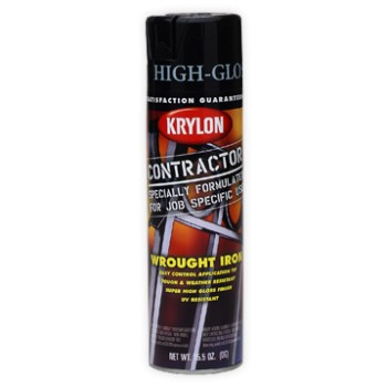 buy the krylon 5821 wrought iron black spray paint at. Black Bedroom Furniture Sets. Home Design Ideas