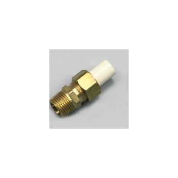 Connector - Brass & PVC - 1/2 x 1/2 inch