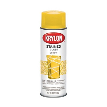 buy the krylon k09024 stained glass spray yellow at