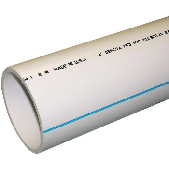 Buy the genova 70045 schedule 40 pvc dwv pipe 4 x 5 ft for Buy plastic pipe