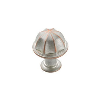 Knob - Weathered Nickel Copper Finish - 1 inch