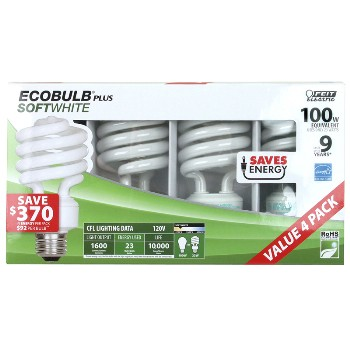 CFL  Bulb, Mini Twist - SoftWhite  23 Watt