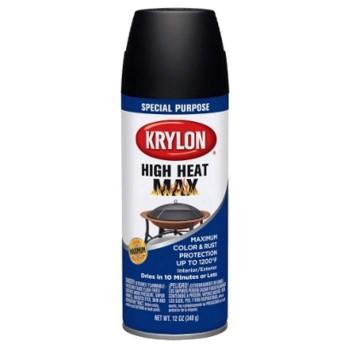 buy the krylon k01607000 high heat max spray finish black. Black Bedroom Furniture Sets. Home Design Ideas