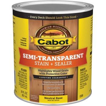 exterior stain semi trans oil neutral base quart hardware world. Black Bedroom Furniture Sets. Home Design Ideas