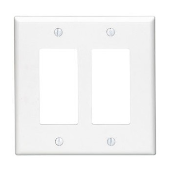 Decora 2-Gang Wall Plate ~ White