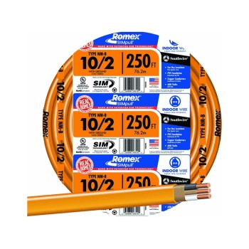 10/2g 250ft. Grnd Solid N-M Wire