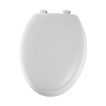 Toilet Seat - Round and Beveled Edge - White
