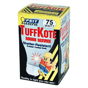 Light Bulb, Rough Service Tuffkote 130V ~ 75W