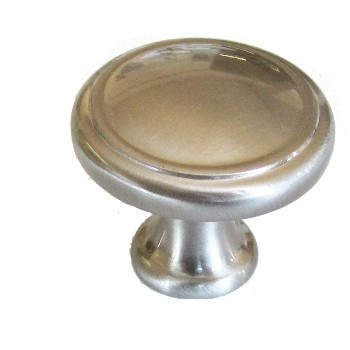 "Round Knob, Satin Nickel Finish ~ 1 3/8"" Diameter"