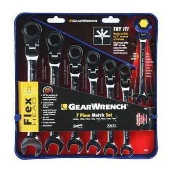 Metric Combo Wrench Set - 7 piece