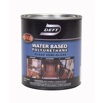 Buy The Deft Dft258 04 Water Base Polyurethane Finish Semi Gloss 1 Quart Hardware World