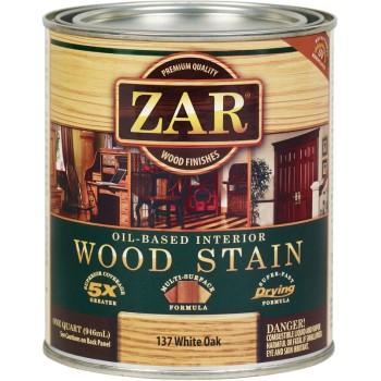 buy the zar 13712 wood stain interior oil based white oak quart. Black Bedroom Furniture Sets. Home Design Ideas