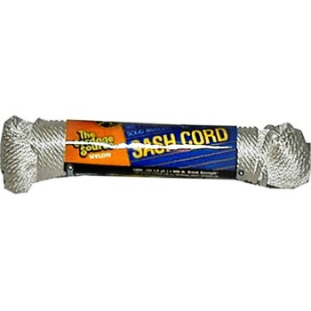 Solid Braided Nylon Rope, #8 x 50 feet