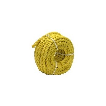 "Yellow Twisted Poly Rope, 1/4 ""x 100 feet"