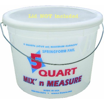 Buy The Encore Plastics 300411 Mix N Measure Pail 5 Quart