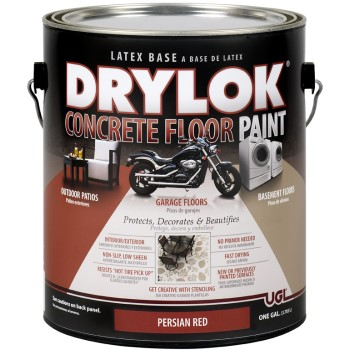 Drylok Concrete Floor Paint, Persian Red, 1 Gal