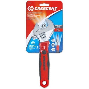 9in. Lighted Adj Wrench