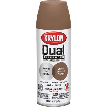 buy the krylon k08825000 krylon dual paint adobe 12 oz. Black Bedroom Furniture Sets. Home Design Ideas