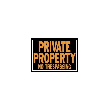 Private Property Sign, Aluminum 10 x 14 inch